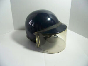 Police Riot Helmet With Shield And Chinstrap fibremetal Very Nice