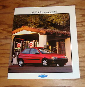 Original 1998 Chevrolet Metro Sales Brochure 98 Chevy