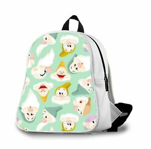 Snow White And The Sevendwa2custom Backpack Students School Bag Outdoor For Kids