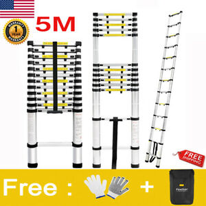 16 4ft Multipurpose Aluminium Ladders Telescopic Extension Folding Step Ladder