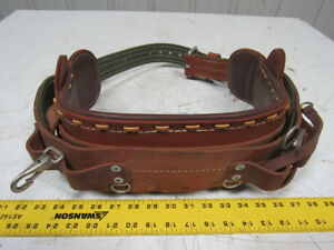 Bashlin Industries Size D24 Linemen Climbers Leather Belt