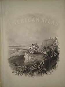 Vintage 1864 Front Page Engraving Johnson S Family Atlas 82818