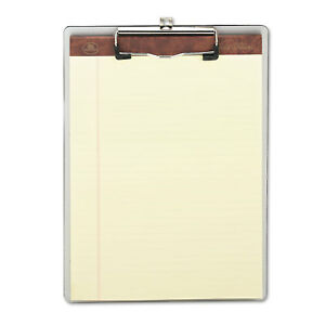 Universal One Brushed Aluminium Plastic Silver Clipboard pack Of 3