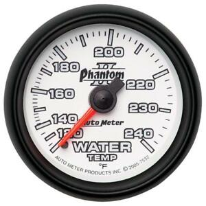 Auto Meter Coolant Temperature Gauge 7532 Phantom Ii 120 To 240 f 2 1 16