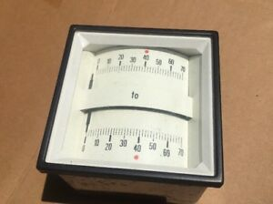Vintage New Old Stock Panel Meter 0 70 To 0 70
