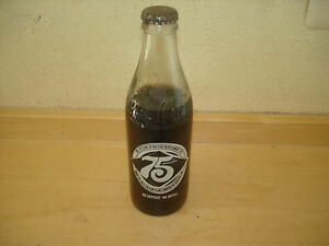 COCA COLA 75TH ANNIVERSARY BOTTLE FULL ROANOKE COMMORATIVE ATLANTA GA BOTTLE