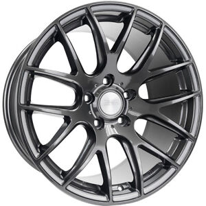 18x8 5 Gray Esr Sr12 Wheels 5x4 5 35 Fits Pontiac Vibe 5 Lug Only