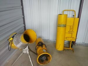 Lot Coppus Vano 175 Pelsue 1375d Air Pac Blower Fan Confined Space W duct System