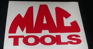 Mac Tools 6 Red Decal For Trucks Toolbox Windows Vans Or Wherever