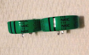 2 Pcs Nec Fyh 1 0 Farad 5 5v Disc Super Capacitor