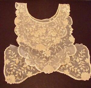Antique Lace Cream Color Collar Cuffs For Dress Or Blouse