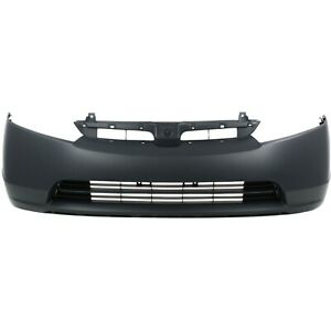 Front Bumper Cover For 2007 2008 Honda Civic Sedan 2 0l Eng Primed Plastic