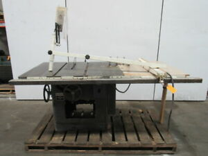 Delta Rockwell 34 395 12 14 Tilting Arbor Saw Table Saw 5hp 230 460v 3ph