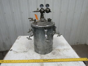 Binks 5 Gallon Galvanized Steel Pressure Pot Tank W agitator 110psi