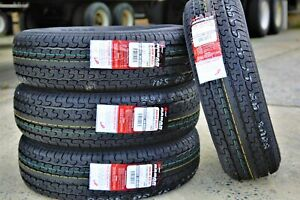 4 New Radar Cargo Master St225 75r15 E 10 Ply Steel Belted Radial Trailer Tires
