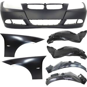 Bumper Cover Kit For 2007 08 328i 2006 330i Front Primed 7pc