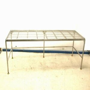 Stainless Steel 96 Length X 30 Width X 28 Height Wire Top Work Table