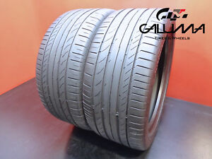 2 Nice Continental 255 40 18 Tires Contisportcontact 5 95y Runflat Tech 47449