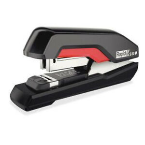 Rapid S50 Black red Supreme Superflatclinch Halfstrip Stapler Rpd5000599