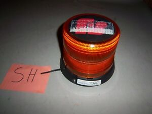 Federal Signal Ultrastar Model 252651 Series C Amber 12v Led Strobe Beacon