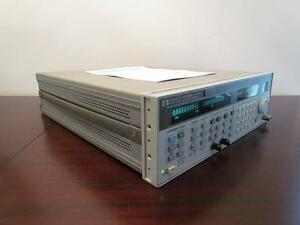 Agilent Hp 83752a 20ghz Synthesized Sweeper Signal Generator W Opt 1e1 Cal d