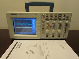 Tektronix Tds2012 100mhz 2 Channel 1 Gs s Digital Color Oscilloscope Cal d