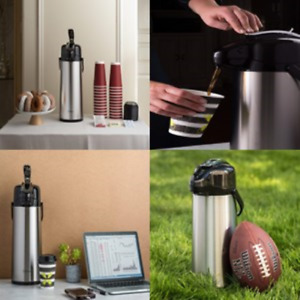 Thermal Carafes 2 2 Liter Airpot Coffee Dispenser With Pump Stainl