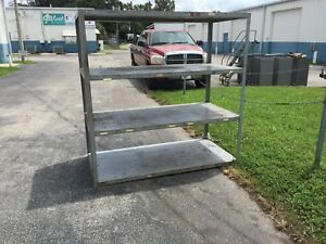 Extreme Duty Industrial Shelves All Welded Metal 6 X 3 X 6 With Beefy Tube