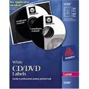 Avery Cd dvd Labels 250 Labels White Laser Matte