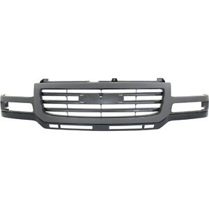 Grille For 2003 2007 Gmc Sierra 2500 Hd Sierra 3500 Gray Shell W Black Insert