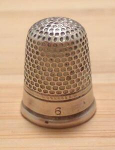 Vintage Sterling Silver 6 Thimble 4 1 Grams 8 C1638