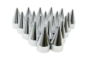 33mm Chrome Lug Nut Covers Rocket Style Screw On Style Plastic 20