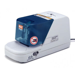 New Max Electronic 70 Sheet Flat Clinch Stapler Eh 70f Free Shipping