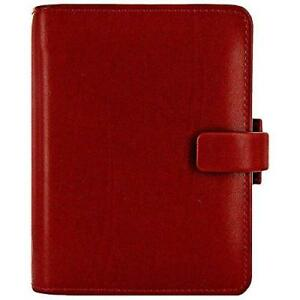 Filofax Metropol Personal Organiser For Paper 81x120mm Pocket Red Ref 026962