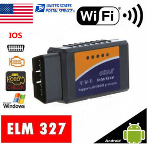 1pc Elm327 Obd2 Obdii Wifi For Iphone Android Pc Car Engine Diagnostic Scanner