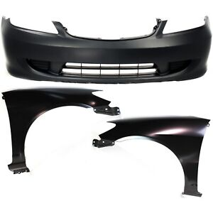 Bumper Cover Kit For 2004 2005 Honda Civic Front 3pc