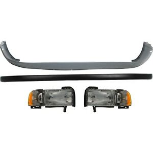 Bumper Cover Kit For 1994 2001 Dodge Ram 1500 Front With Headlight