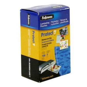 New Fellowes Premium 7mil Business Card Laminating Pouches 100pk