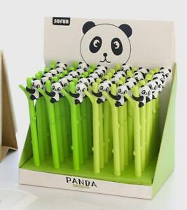 New Lot 36pcs Cartoon Cute Panda Children Learning Stationery Neutral Pen Gifts