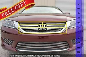 Gtg 2013 2015 Honda Accord 4dr 5pc Polished Upper Insert Billet Grille Kit