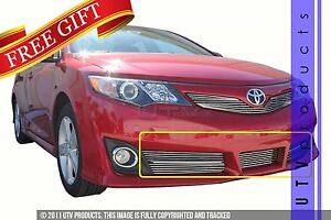 Gtg 2012 2014 Toyota Camry Se 5pc Polished Overlay Bumper Billet Grille Kit