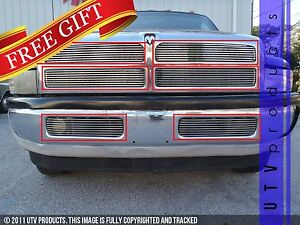 Gtg 1994 2002 Dodge Ram 1500 2500 3500 6pc Polished Overlay Billet Grille Kit