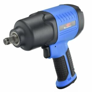 Composite Air Impact Wrench Twin Hammer 1 2 Inch Lightweight 450 lb Torque