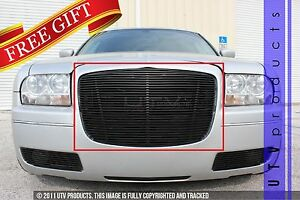 Gtg 2005 2010 Chrysler 300 And 300c 1pc Gloss Black Replacement Billet Grille