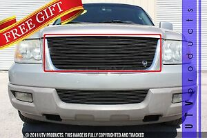 Gtg 2003 2006 Ford Expedition 1pc Gloss Black Upper Replacement Billet Grille
