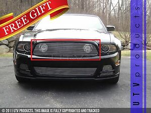 Gtg 2013 2014 Ford Mustang Gt 1pc Polished Upper Replacement Billet Grille Grill