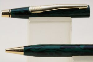 Vintage Cross Century Green Wood Lacquer Mechanical Pencil With Gold Trim