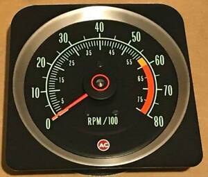 1969 Camaro Z28 Late 8000 Rpm Tachometer Gm Licensed Switchable