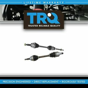 Trq New Complete Cv Axle Shaft Assembly Pair 2pc Set For Camry Es350 A
