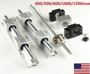 2x Sbr16 Linear Rail Slide Guide Set 1x Sfu1204 Ballscrew Set 300 1500mm Us